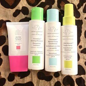 BN Drunk Elephant Haircare Set: Shampoo, Conditioner, Scrub, Detangling Spray